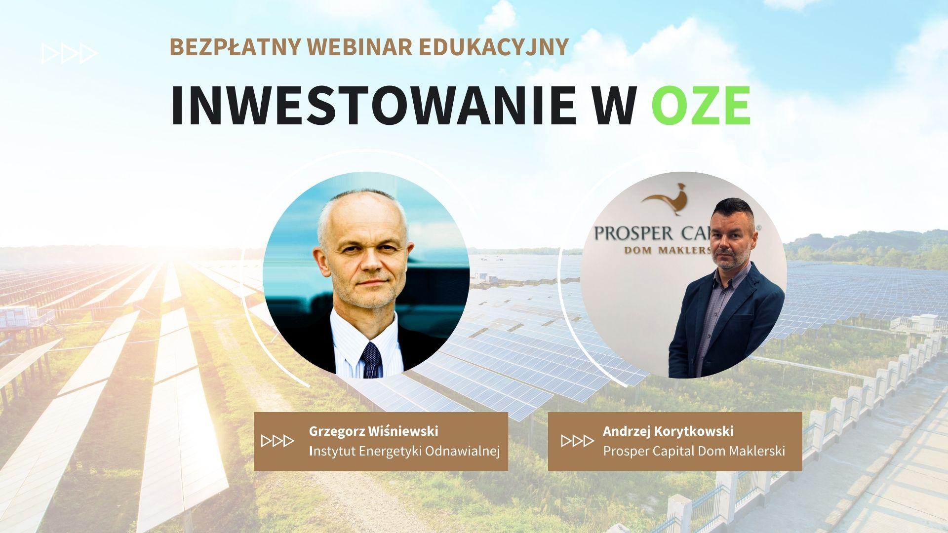 Webinar edukacyjny – Inwestycja w OZE