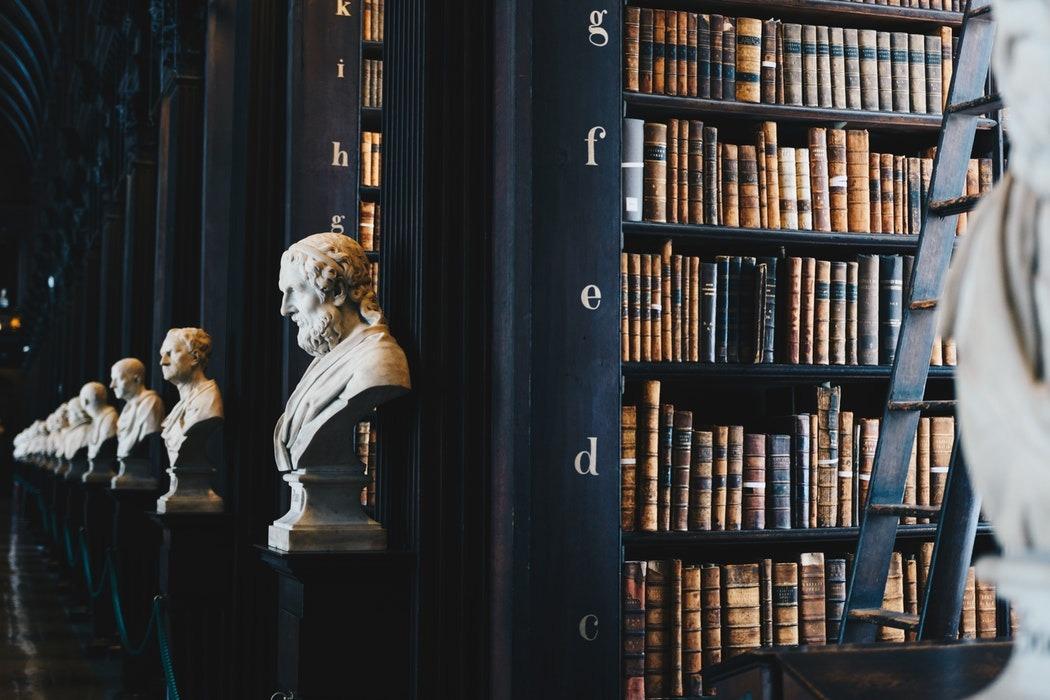 biblioteka - książki - popiersia 2